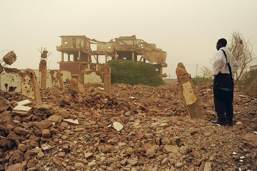 The rubbles of al-Shifa pharmaceutical factory in Khartoum, a reminder of US hegemonic