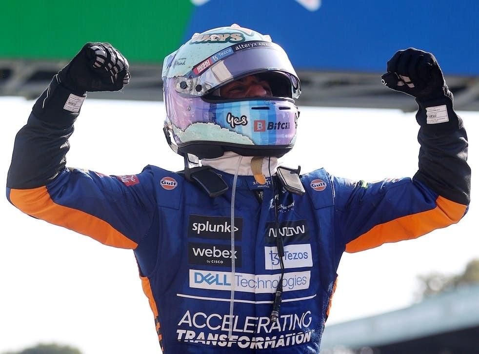 McLaren's Daniel Ricciardo; winner of F1 Italian GP