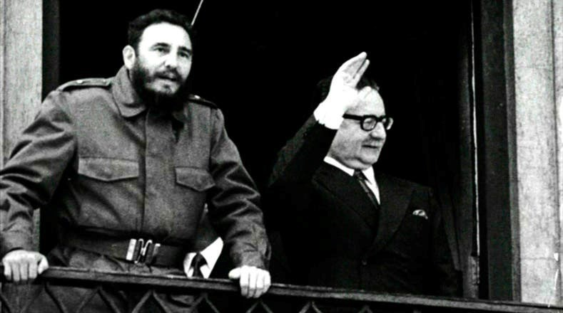 Allende's relationship with Castro and Cuba sounded alarm bells in the US administration (1971)