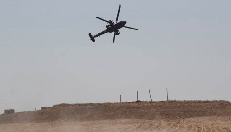 US airdrops and kidnapping of two civilians on the outskirts of Al-Hasakah city (Archive).
