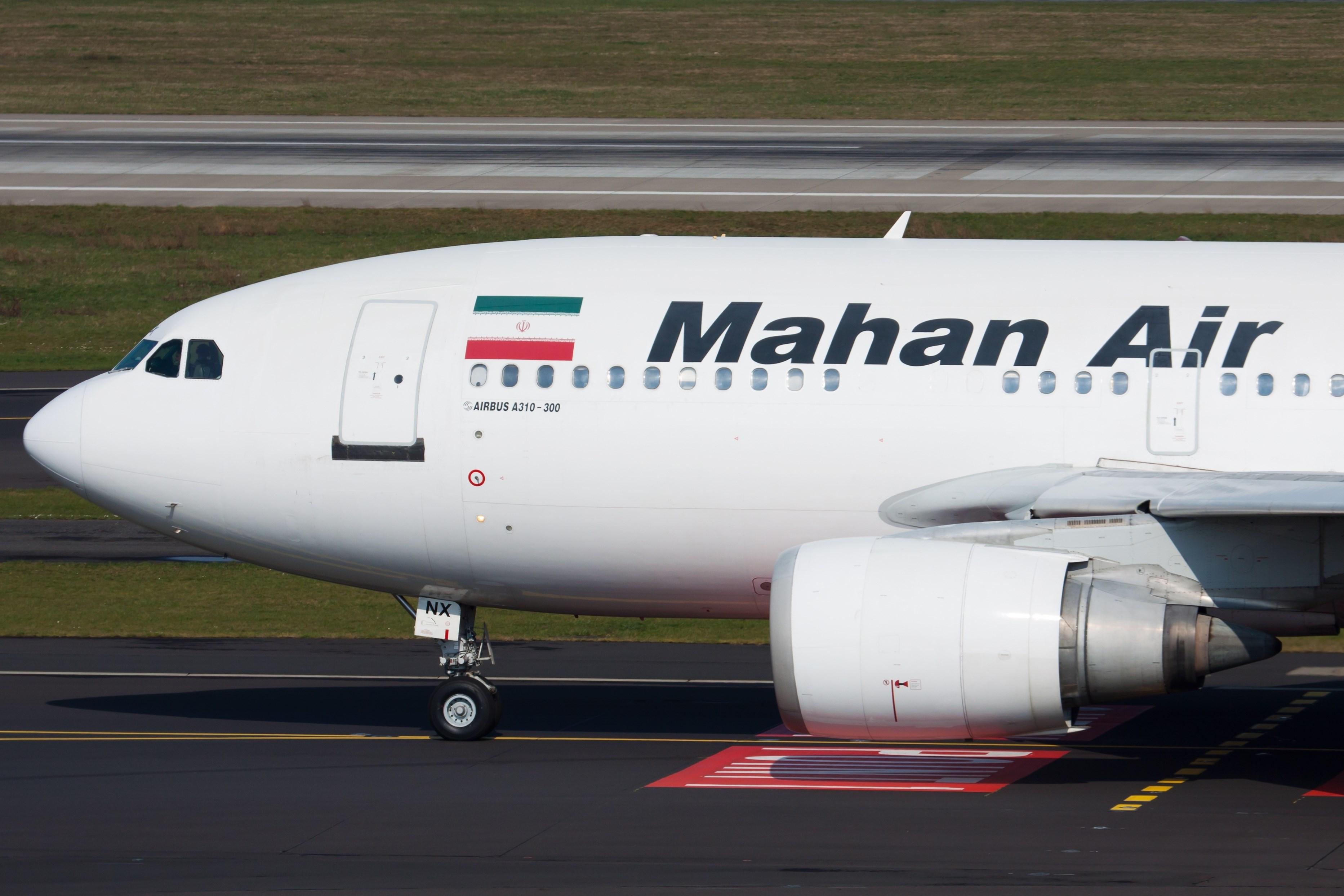A Mahan Air flight lands in Kabul carrying 19 passengers