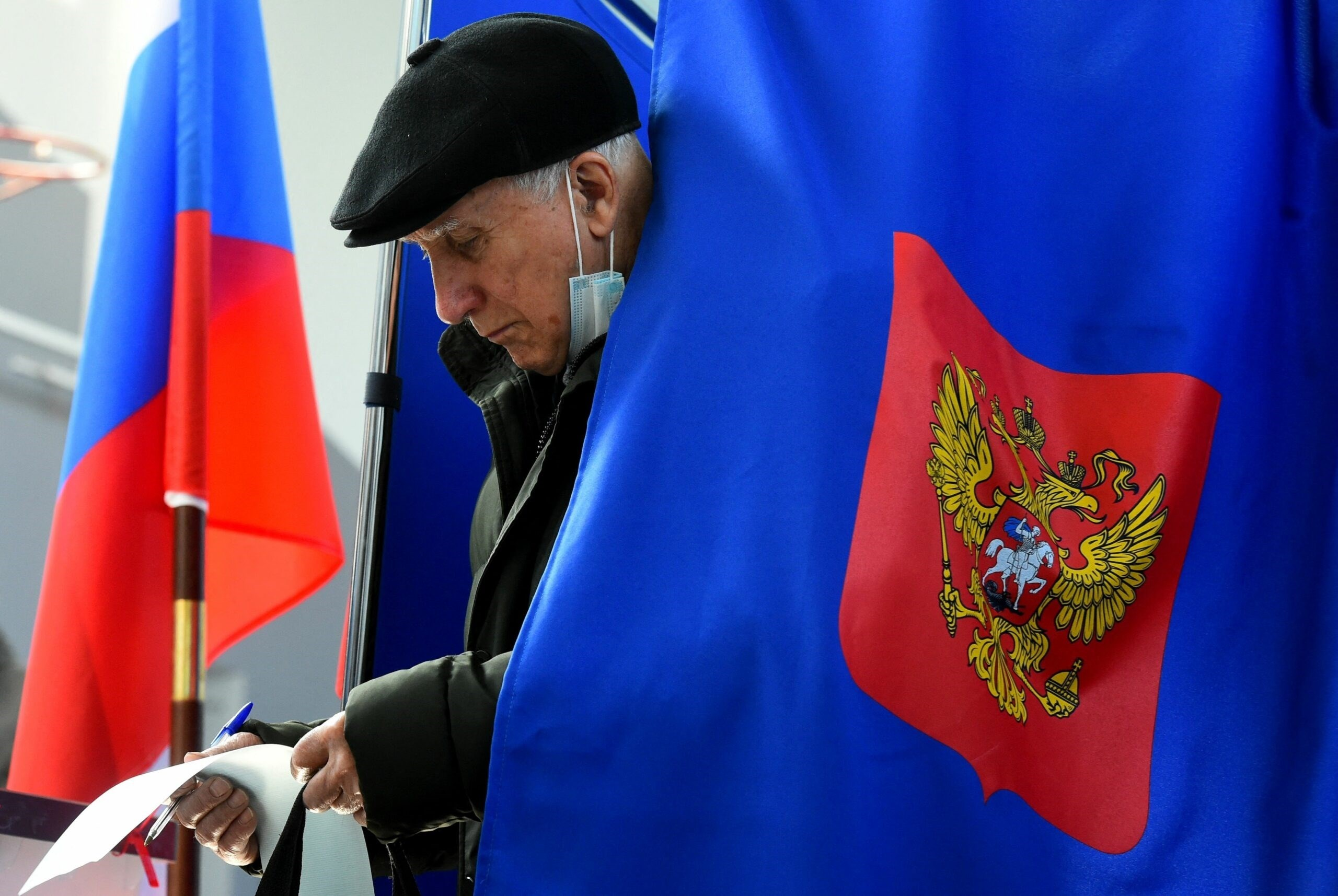 Preliminary results show that Russia's ruling party has won the parliamentary elections.