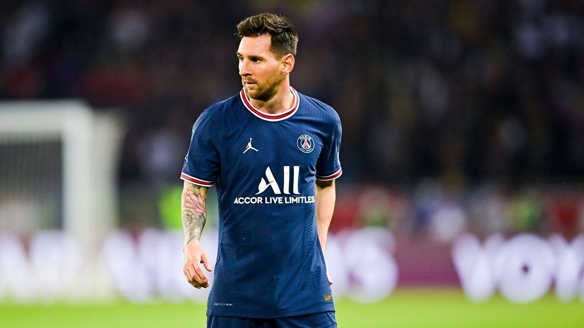 Lionel Messi during PSG's match against Lyon, September 19, 2021